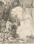 Rembrandt van Rijn - The Raising of Lazarus: the smaller plate, 1642