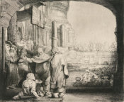 Rembrandt van Rijn - Peter and John Healing the Cripple at the Gate of the Temple, 1659