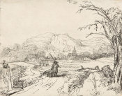 Rembrandt van Rijn - Landscape with a Sportsman and Dog, ca. 1653