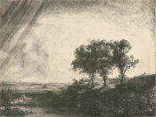 Rembrandt van Rijn - The Three Trees, 1643