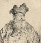 Rembrandt van Rijn - Old Man with a Divided Fur Cap, 1640