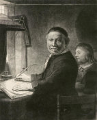 Rembrandt van Rijn - Lieven Willemsz van Coppenol, Writing Master: the smaller plate, ca. 1658