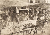 Otto Henry Bacher - The Old Market, Florence 1881