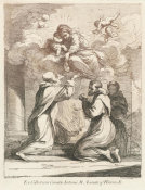 Francesco Bartolozzi - Madonna and Child Adored by Three Monks, 1764