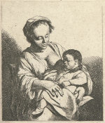 Cornelis Bega - Mother and Child, 17th century