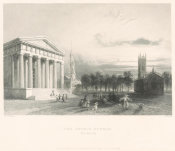Timothy Cole - The Gothic Church (New Haven), 1839