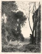 Jean-Baptiste-Camille Corot - The Little Shepherd No 7 1855