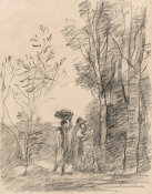Jean-Baptiste-Camille Corot - The Meeting in the Grove, 1871-1872