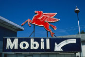 John Margolies - Mobil flying red horse sign, Rt. 6, Wellsboro, Pennsylvania