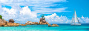 Pangea Images - Sailboat at La Digue, Seychelles