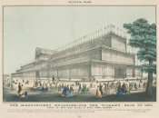 Nathaniel Currier - The Crystal Palace: The Magnificent Building, for the World