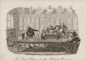 George Cruikshank - The Print Room at the British Museum, ca. 1828