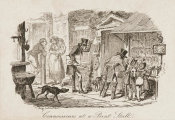 George Cruikshank - Connoisseurs at a Print Stall, ca. 1828