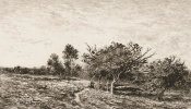Charles Francois Daubigny - Apple Trees at Auvers (Pommiers a Auvers), 1877