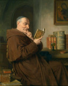 Eduard Grutzner - Reading Monk with Wine