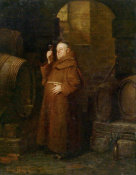 Eduard Grutzner - Monk Checking the Wine