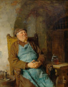 Eduard Grutzner - Brewmaster with a Cigar