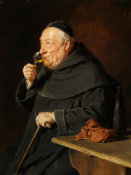 Eduard Grutzner - Benedictine Monk with Wine