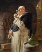 Eduard Grutzner - Dominican Testing the Wine, 1896