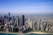 Carol Highsmith - Aerial view of lakeshore Chicago Illinois