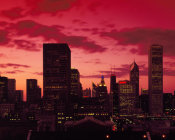 Carol Highsmith - Skyline at dusk Chicago Illinois