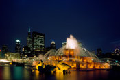 Carol Highsmith - Dusk view of Buckingham Fountain in Chicago Illinois