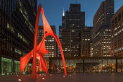 Carol Highsmith - Night view of Chicago Federal Center Chicago Illinois