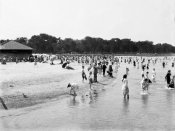 Vintage Chicago - Childrens bathing beach Lincoln Park Chicago Illinois