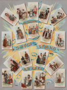 J. Ottmann Lith. Co. - Advertising Poster - All Nations Use Singer Sewing Machines