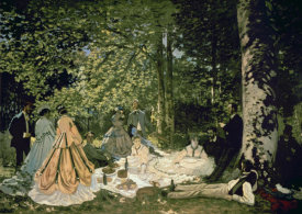 Claude Monet - Luncheon on the Grass, 1865-66
