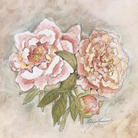 Peggy Abrams - Victorian Panel-Peonies