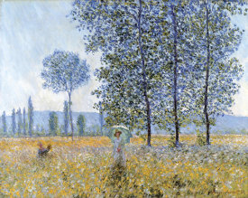 Claude Monet - Sunlight Under The Poplars