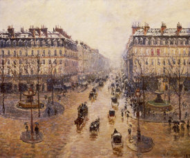 Camille Pissarro - The Avenue De L'Opera