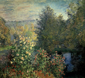 Claude Monet - Quiet Corner in the Garden of Montgeron