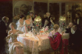 Jules Alexandre Grun - The End Of Dinner