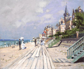 Claude Monet - Beach at Trouville