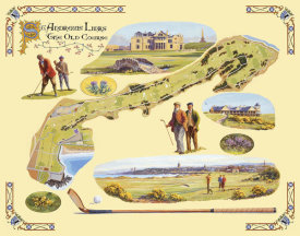 Bernard Willington - Golf Course Map-St. Andrews