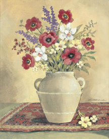 Betty Whiteaker - Flower On Red Mat 2