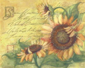 Susan Winget - Sunflowers On Gold