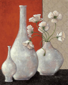 Janet Kruskamp - Silverleaf And Poppies I