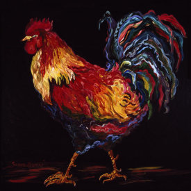 Suzanne Etienne - Red and Gold Rooster