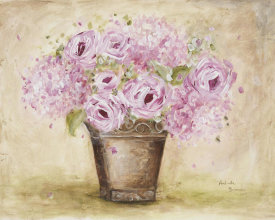 Antonette Bowman - Classic Pink Roses And Hydrangeas