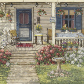 Janet Kruskamp - Front Porch In Maine