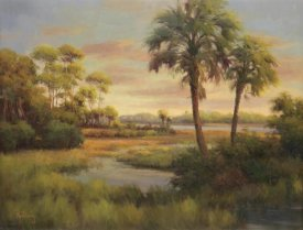 R Rutley - River Cove With Palms I