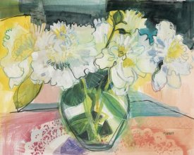 Maret Hensick - White Bouquet on Pink Table