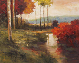 Kanayo Ede - Autumn River in Tuscany
