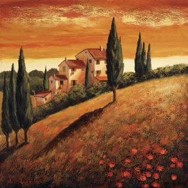 Santo De Vita - Sunset Over Tuscany I