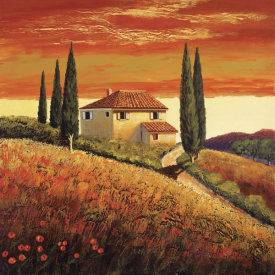 Santo De Vita - Sunset Over Tuscany II