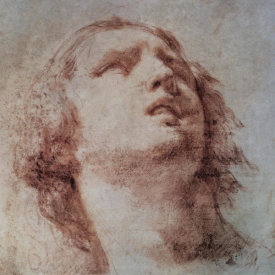 Pietro Berrettini - Study of a Head Looking Up