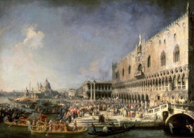 Canaletto - The Reception of the French Ambassador in Venice